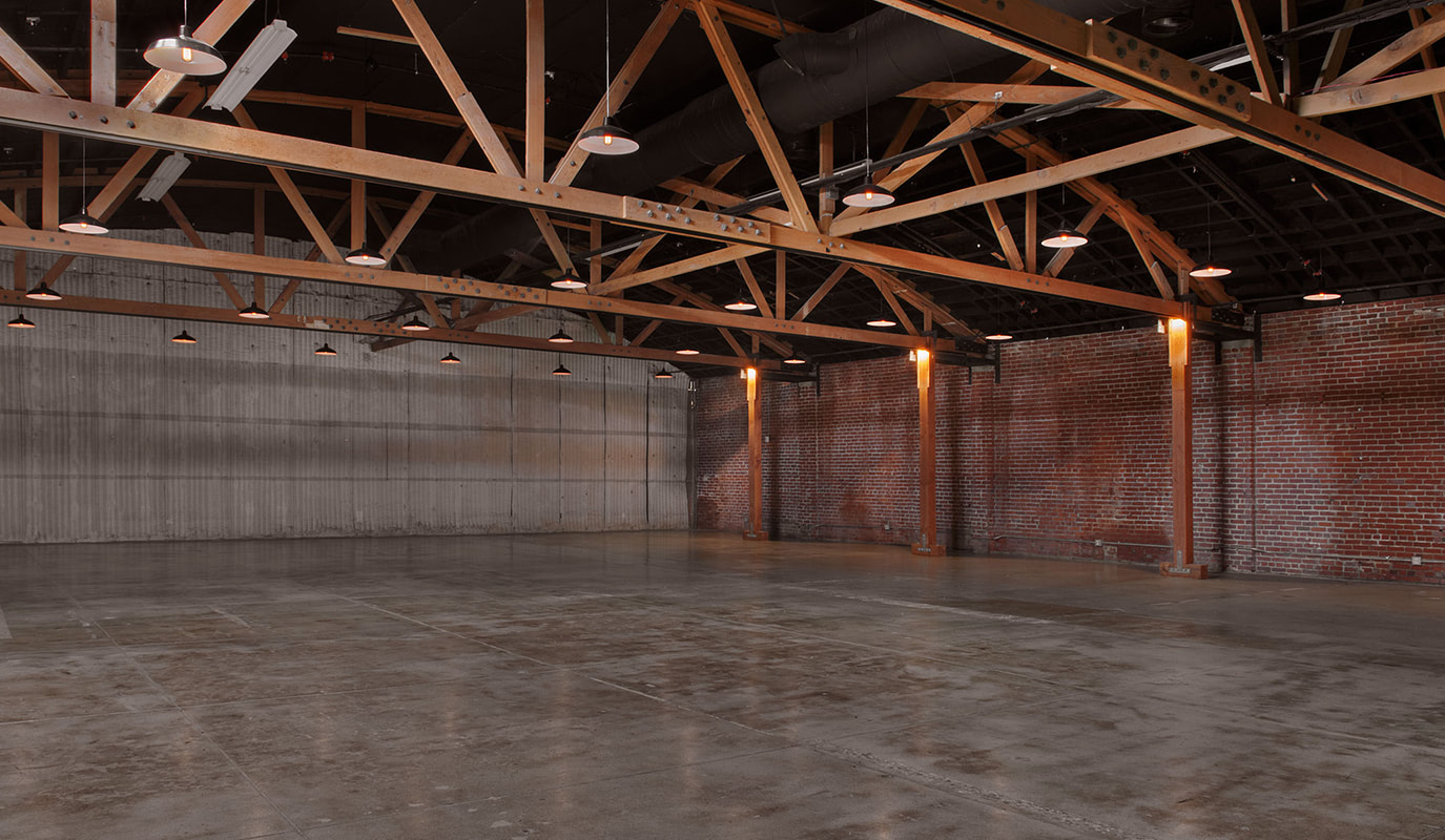 Industrial indoor setting at Goya venue in Los Angeles